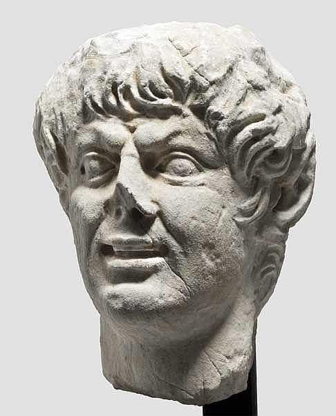 Marmorkopf eines Satyr, römisch nach hellenistischem Vorbild, 1. Jhdt.