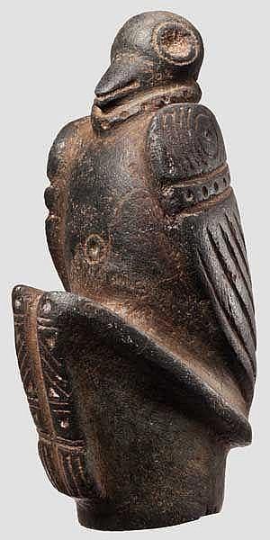 Skulptur eines Vogelmenschen, Taino-Kultur, Karibik, 11. - 15. Jhdt.