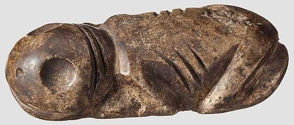 Kauernde, mythologische Figur, Taino-Kultur, Karibik, 11. - 15. Jhdt.