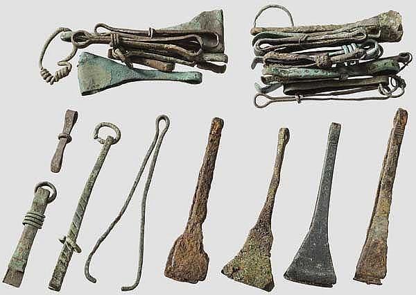 Sammlung von 27 Pinzetten, meist römisch