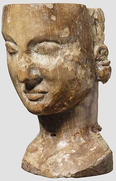 Spätarchaischer Beinkopf von Puppe, 6. Jhdt. v. Chr.