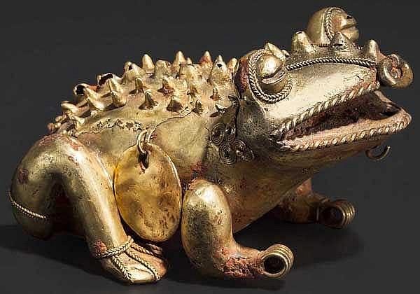 Plastik einer Kröte, Zenú-Kultur, Kolumbien, 9. - 15. Jhdt.