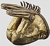Protome mit Zwillingskopf, Zenú-Kultur, Kolumbien, 9. - 15. Jhdt.