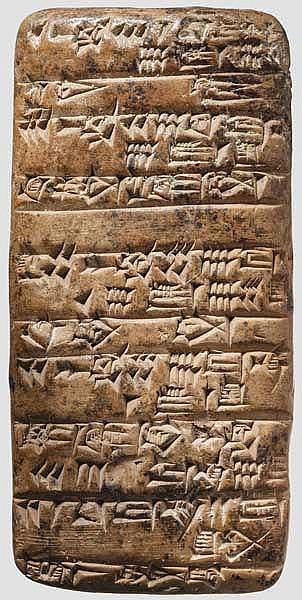 Keilschrifttafel, altbabylonisch, 2. Jtsd. v. Chr.