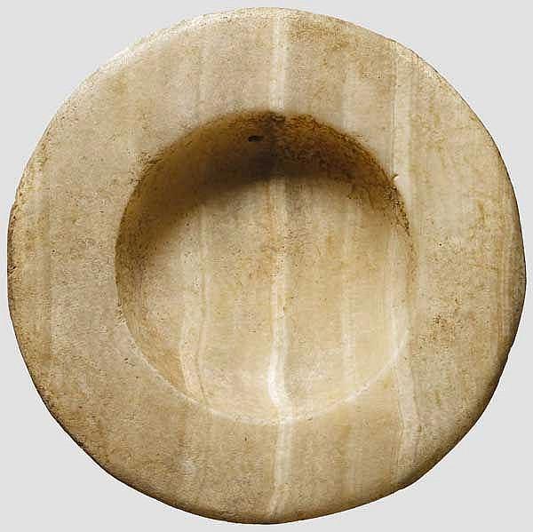 Kleine Alabasterschale, altägyptisch, 2. Jtsdt. v. Chr.