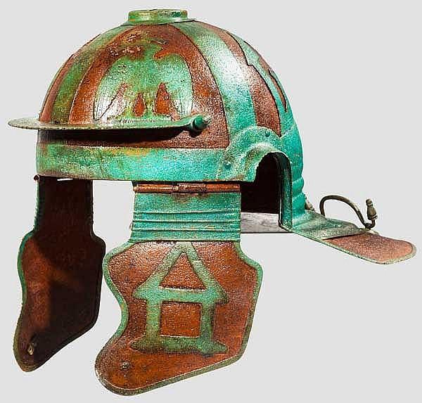 Römischer Offiziershelm, Typ Weisenau, Sammleranfertigung im Stil des 2. Jhdts.