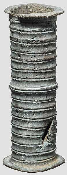 Bronzezylinder zur Aufbewahrung von Rotuli, spätrömisch, 4. - 5. Jhdt.