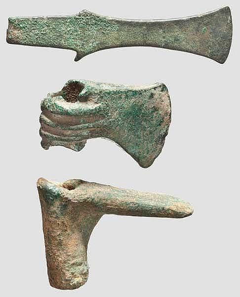 Dechsel, Axt und Ärmchenbeil, vorderasiatisch, Mitte 3. - Ende 1. Jtsd. v. Chr.