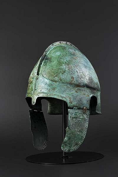 A Late Chalcidian helmet, early 4th century B.C.
