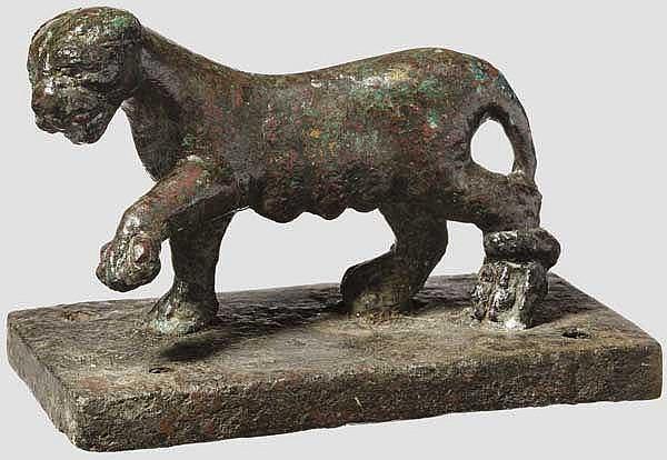 Bronzeskulptur eines Panthers, römisch, 2. - 3. Jhdt.