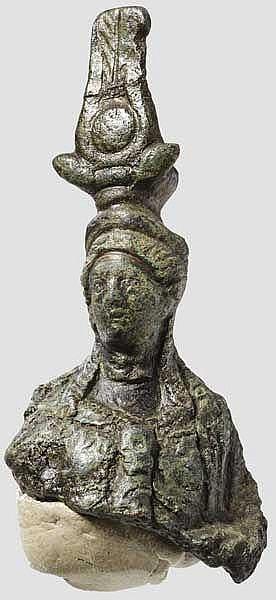 Büste der Isis-Fortuna, römisch, 2. - 3. Jhdt.