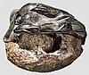 Römisches Bronzegewicht mit sekundär verarbeiteter Dionysosdarstellung, 2. - 3. Jhdt.