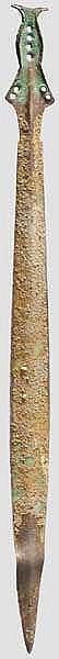 Bronzenes Griffzungenschwert, frühe Urnenfelderzeit, 12. - Mitte 11. Jhdt. v. Chr.