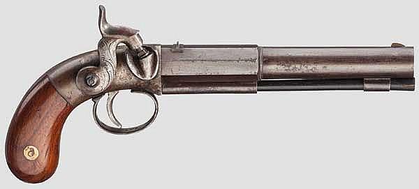 Perkussionspistole, deutsch(?) um 1860