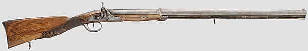 Perkussionsbüchse, C. Hasselmann, Hessen um 1800
