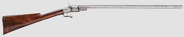Perkussions-Revolvergewehr, Lüttich um 1860