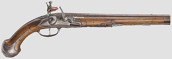 A deluxe flintlock pistol, Coster in Utrecht, circa 1690