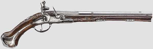 Lange Steinschlosspistole, Peter Solter, Lemgo um 1700