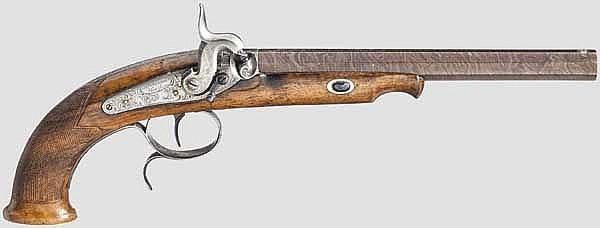 Perkussionspistole, H.W. Kramer in Herzberg
