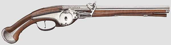 A German military wheel-lock pistol, circa 1660