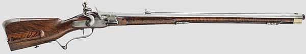 A flintlock sporting rifle (Müllerbüchse) from the armoury of Johann Wilhelm von Sachsen-Eisenach, circa 1690