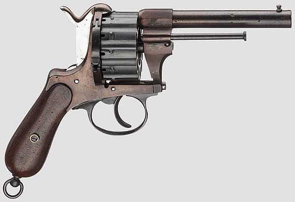 Belg. Stiftfeuerrevolver Chaineux, um 1870