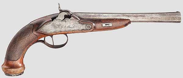 Perkussionspistole, Franz Ulrich, Stuttgart um 1830
