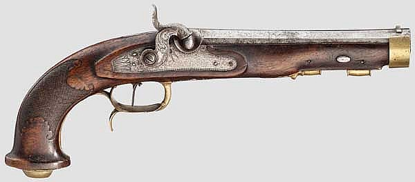 Perkussionspistole, F. Ebert & Söhne, Suhl um 1830