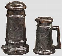 Zwei Bronzeböller, deutsch oder französisch um 1800
