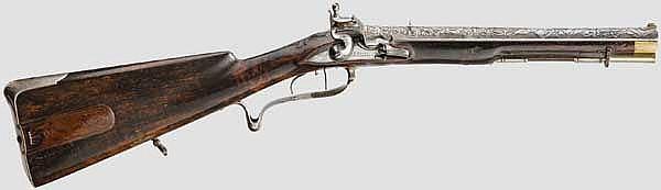 A flintlock carbine, Johann Eitel in Weilburg, circa 1780