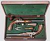 Ein Paar Perkussionspistolen im Kasten, Lüttich um 1850