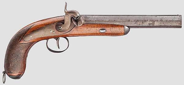 Perkussionspistole, Lüttich um 1850