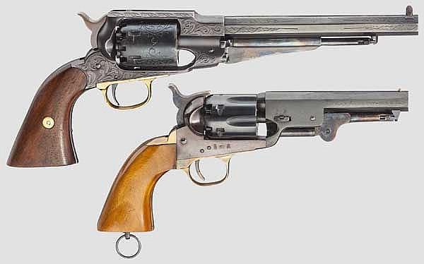 Remington New Model Army, Santa Barbara und Colt Navy Sheriff's Model, Euroarms