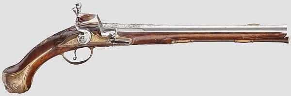 Steinschlosspistole, flämisch um 1720