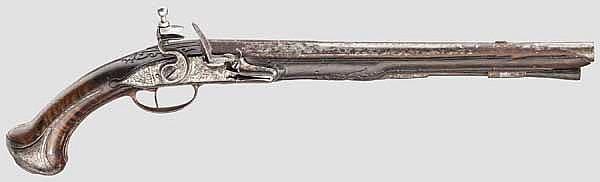Lange Steinschlosspistole, Delety, Paris um 1720