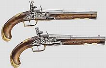 Ein Paar Steinschlosspistolen, Gottlib Steeger in Karlsbad um 1740