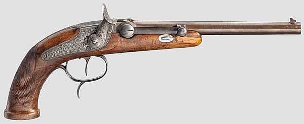 Zündnadel-Scheibenpistole, Störmer in Herzberg um 1840/50