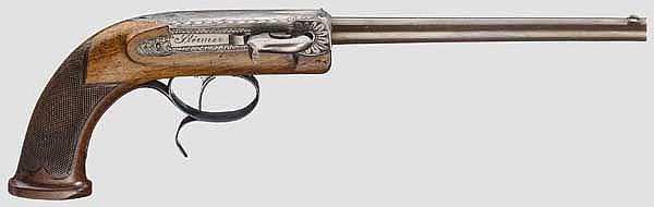 Zündpillen-Seitenhammer-Pistole, Störmer in Herzberg um 1840/50