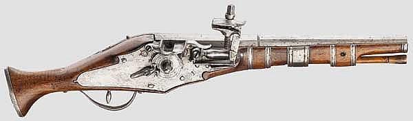 Militärische Radschlosspistole, Italien um 1630