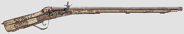 Radschlossgewehr im Stil des 17. Jhdts., Historismus, unter Verwendung alter Teile