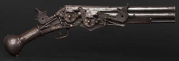 A two-shot all-metal wheellock pistol, Nuremberg, circa 1580