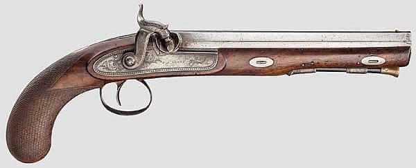 Perkussionspistole, John Perry, Birmingham um 1850