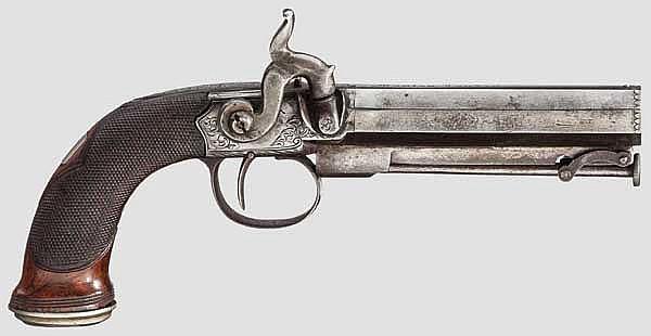 Perkussionspistole, Manton, London/Birmingham um 1850