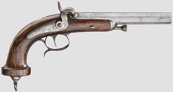 Offiziers-Perkussionspistole, St. Etienne um 1850