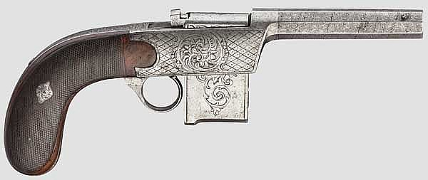 A Colleye repeating pistol M 1850