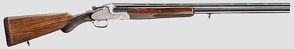 Bockdoppelflinte Merkel, Mod. 303 ET, mit Laufbündel, Länge 72 cm