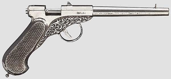 Belgisch-deutsche Luftpistole, Brevet um 1900