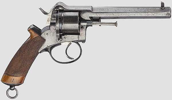 Unbekannter schwerer Stiftfeuerrevolver, um 1870