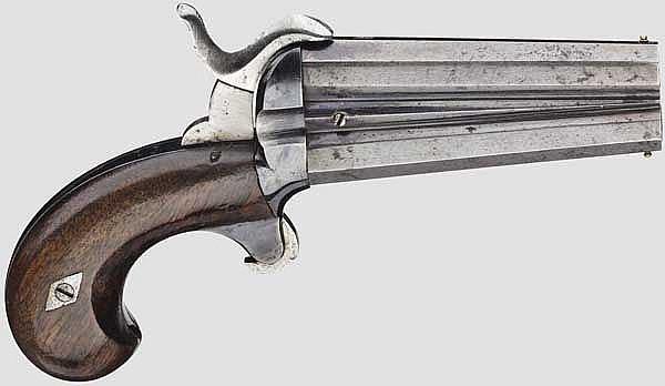 Unbekannte zweiläufige Stiftfeuerpistole