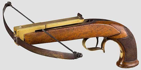Pistolenarmbrust, E.A. Störmer in Herzberg, um 1840/50